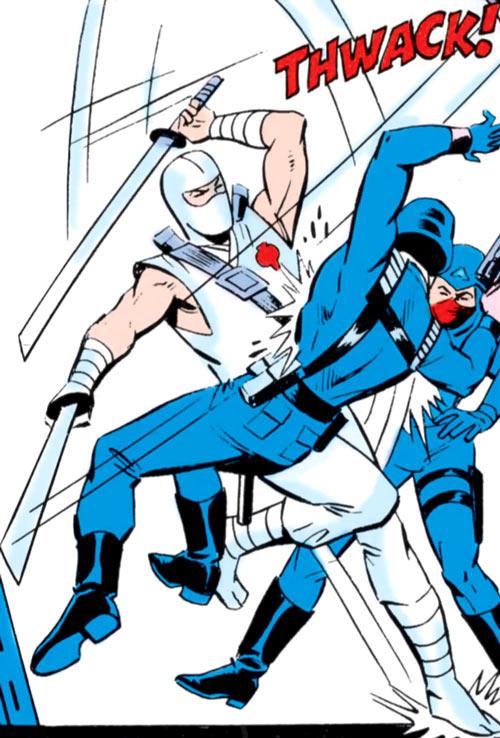 Storm Shadow - GI Joe - Marvel Comics - Slashing two Cobra soldiers