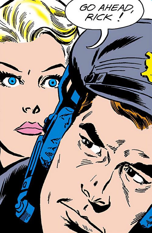 Suicide Squad (Mission X) (Pre-Crisis DC Comics) - Karin Grace and Rick Flag determined faces