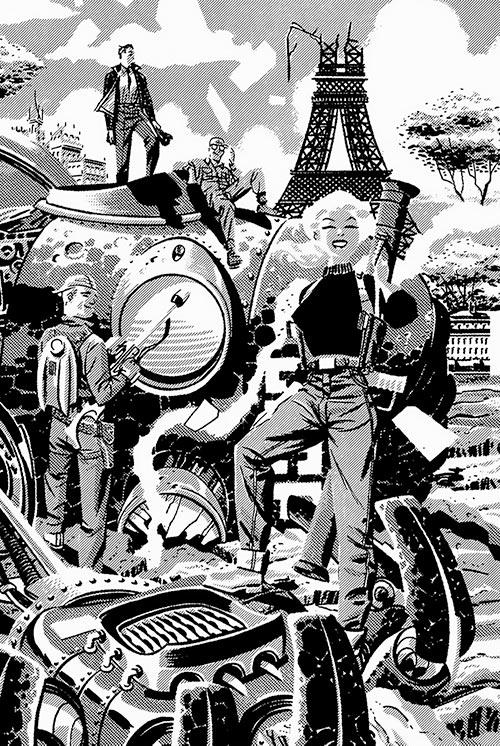 Suicide Squad (Mission X) (Pre-Crisis DC Comics) in Paris in B&W