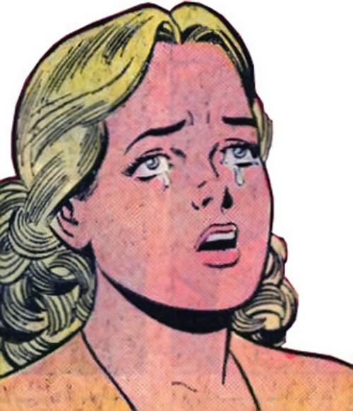 Super-Girl (Liandly) (DC Comics) crying face closeup