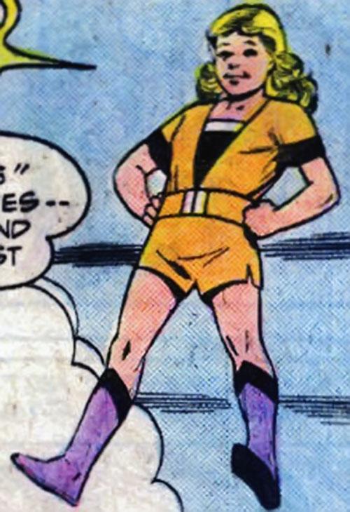 Super-Girl (Liandly) (DC Comics) hovering