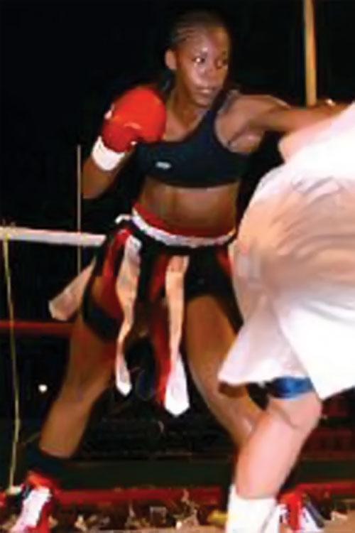 Giselle Salandy boxing