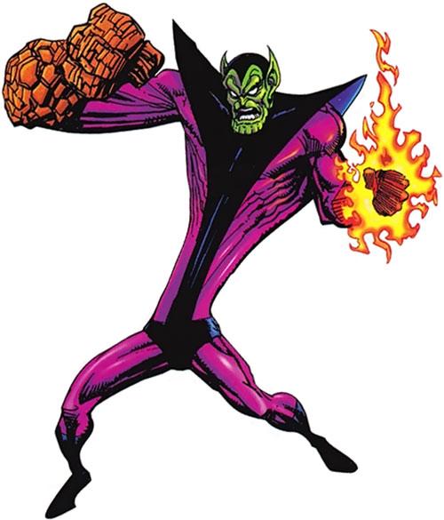 Super-Skrull (Fantastic 4 enemy) (Marvel Comics) using his powers