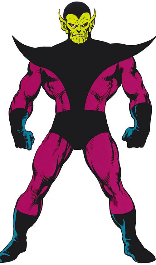 Super-Skrull (Fantastic 4 enemy) (Marvel Comics) from the handbook