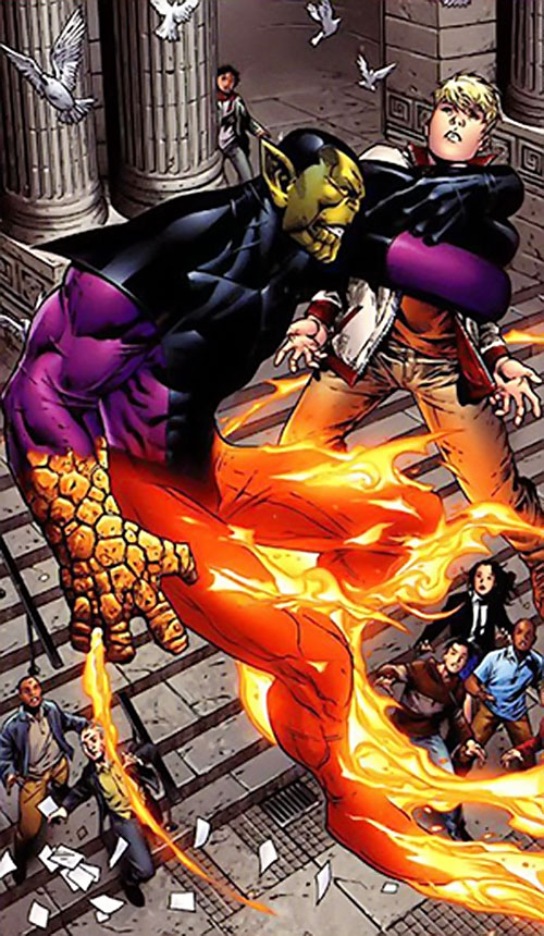 Super-Skrull (Fantastic 4 enemy) (Marvel Comics) and the Young Avengers