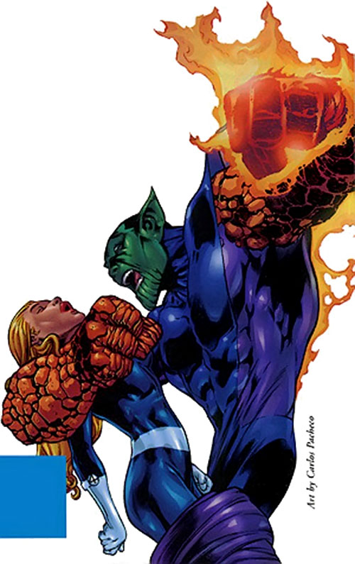 Super-Skrull (Fantastic 4 enemy) (Marvel Comics) and Sue Storm by Pacheco