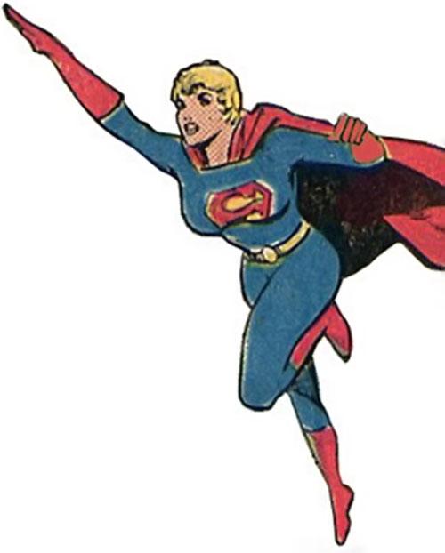 Supergirl of 500,000 AD (DC Comics) in flight