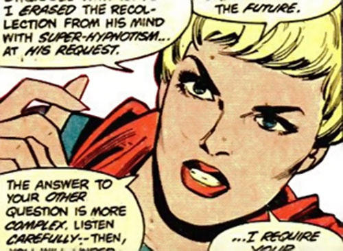 Supergirl of 500,000 AD (DC Comics) face closeup