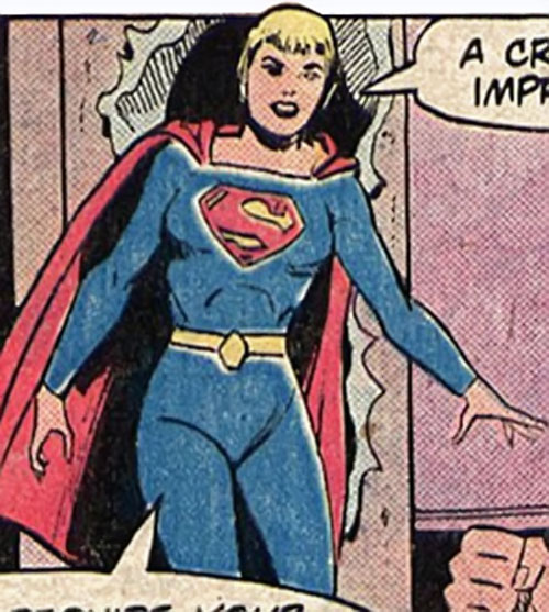 Supergirl of 500,000 AD (DC Comics) makes her entrance