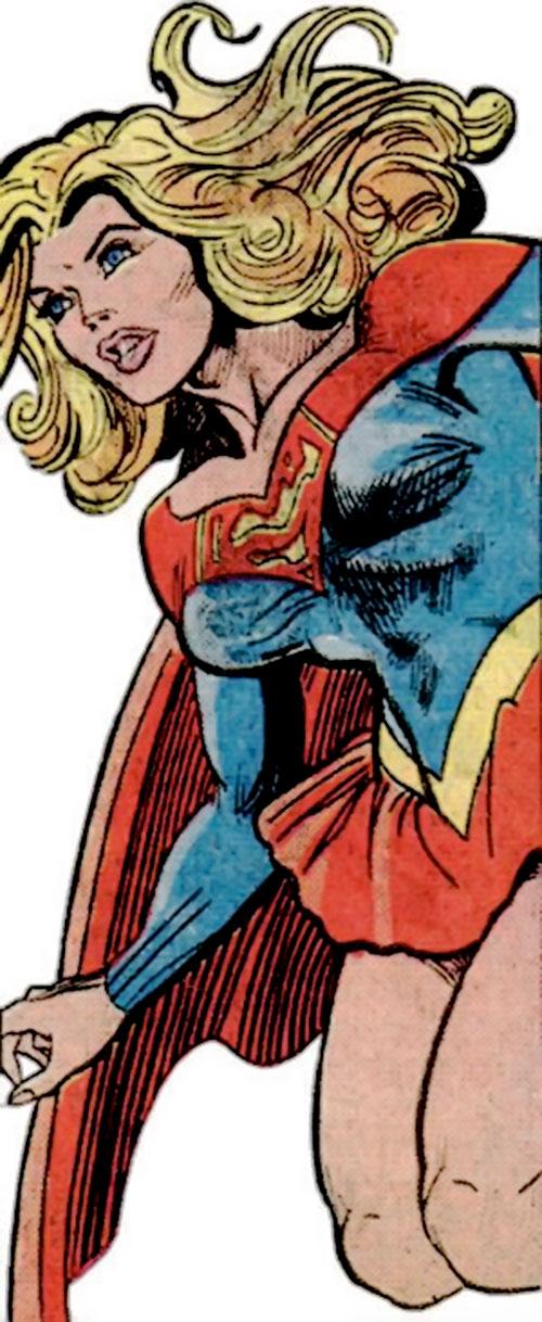 Supergirl (Linda Danvers) (DC Comics) hovering by Infantino