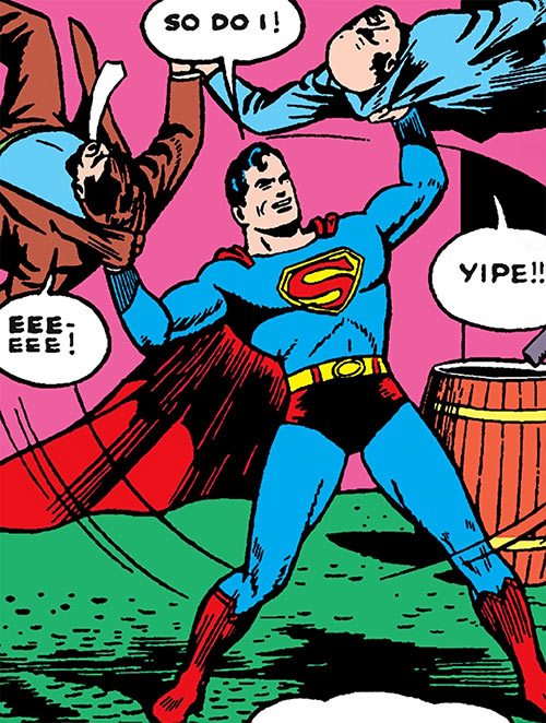 Superman in 1942 (DC Comics) - catching two criminals