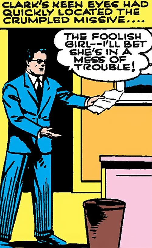 Superman in 1942 (DC Comics) - Clark Kent in a blue suit