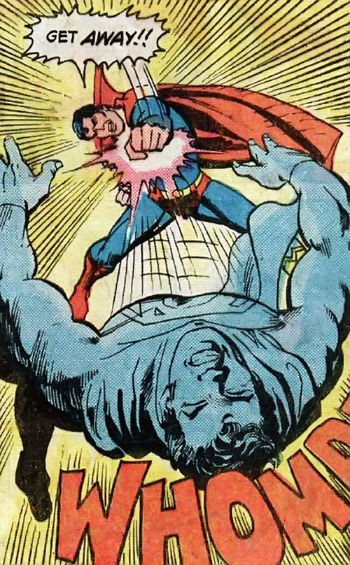 Superman Jr. (DC Comics Super-Sons) punching his father