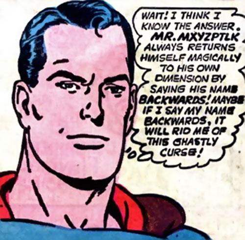 Pre-Crisis Superman (DC Comics) face closeup