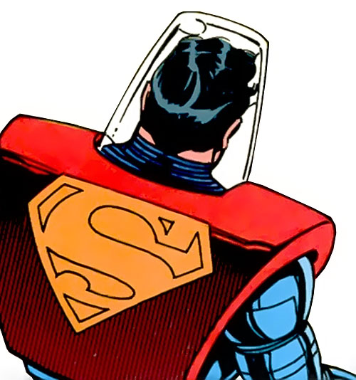 Superman armor (DC Comics) back view