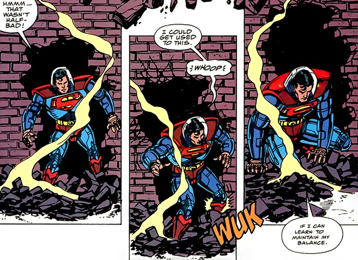 Superman using Emil Hamilton's armor