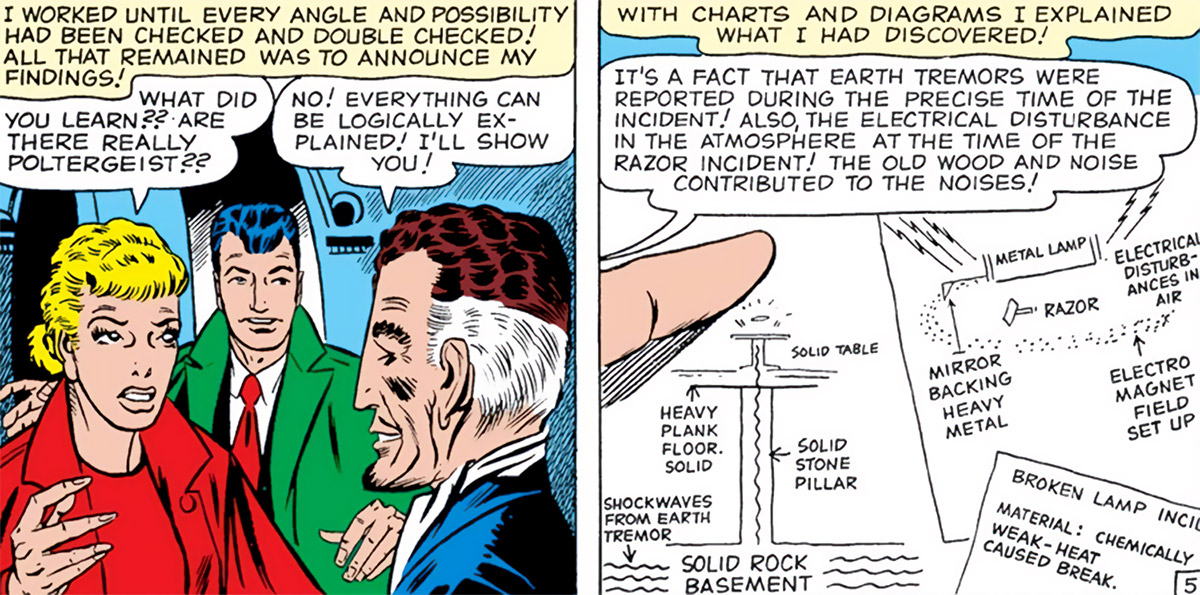 Supernatural Investigator (Tales to Astonish comics) Ditko debunking