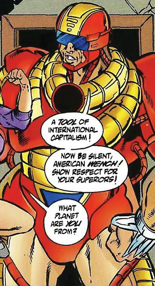 Supreme Soviet (Exiles enemy) (Ultraverse Malibu comics) capturing a student