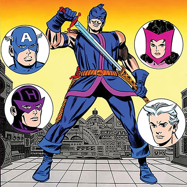 The Swordsman (Jacques Duquesne) and the Avengers