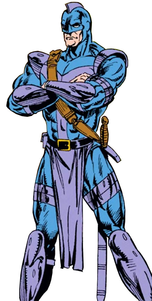 Swordsman of the Gatherers (Avengers enemy) (Marvel Comics) with arms crossed