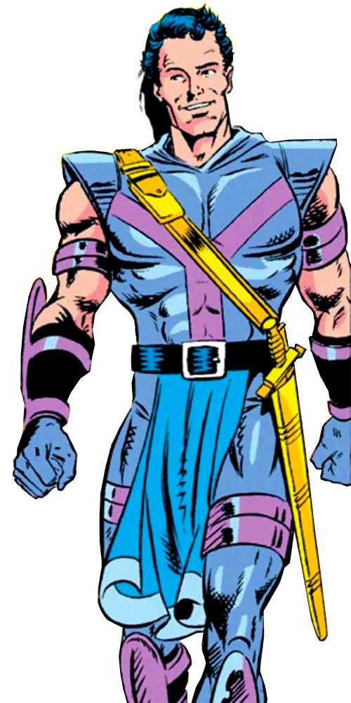 Swordsman of the Gatherers (Avengers enemy) (Marvel Comics) without his hood and mask