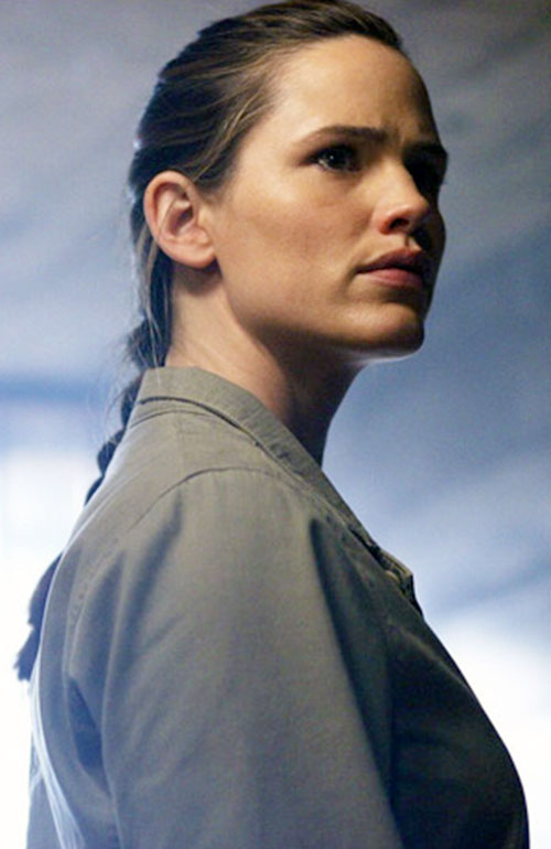 Sydney Bristow (Jennifer Garner in Alias) with a braid