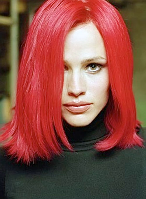 Sydney Bristow (Jennifer Garner in Alias) with bright red hair