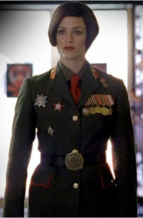 Sydney Bristow (Jennifer Garner in Alias) disguised as a Russian officer