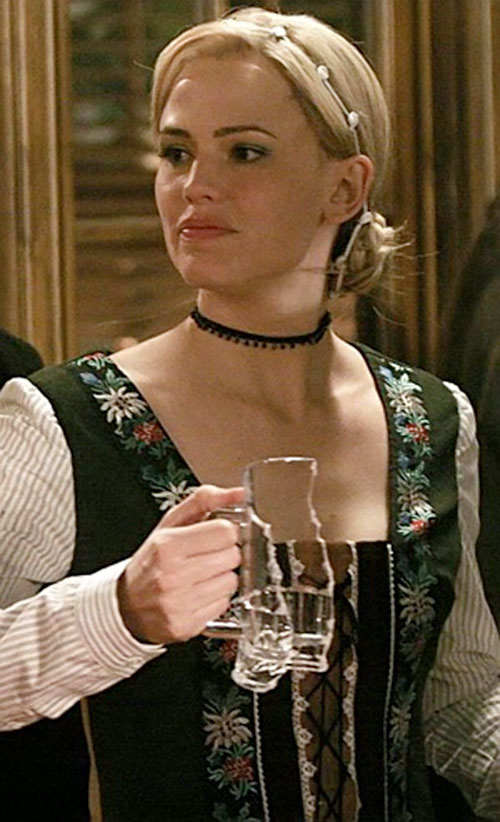 Sydney Bristow (Jennifer Garner in Alias) disguised as a Tyrolean lass