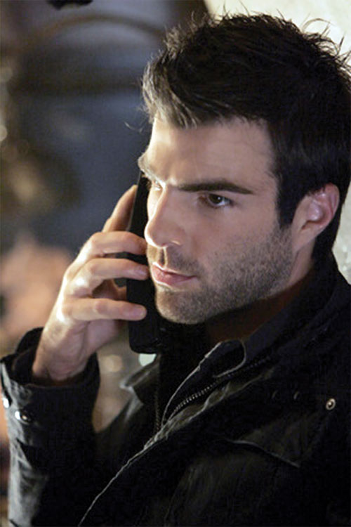 Sylar (Zachary Quinto in NBC's Heroes) on the phone