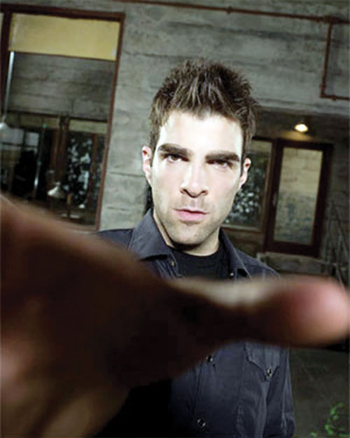 Sylar (Zachary Quinto in NBC's Heroes) strangling hand closeup