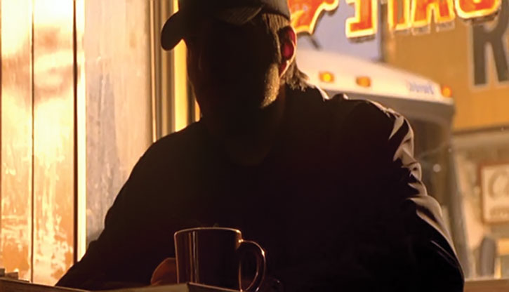 A shadowed Sylar (Zachary Quinto) in a bar