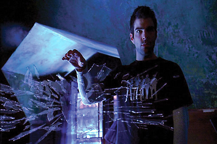 Sylar (Zachary Quinto) using a power to manipulate glass