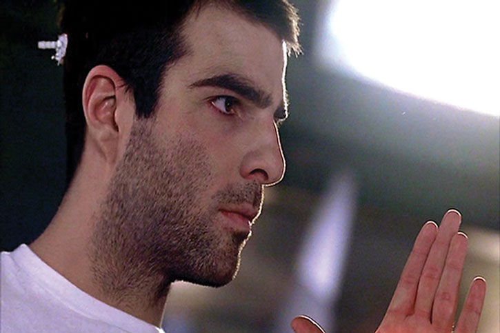 Sylar (Zachary Quinto) being ill-shaven