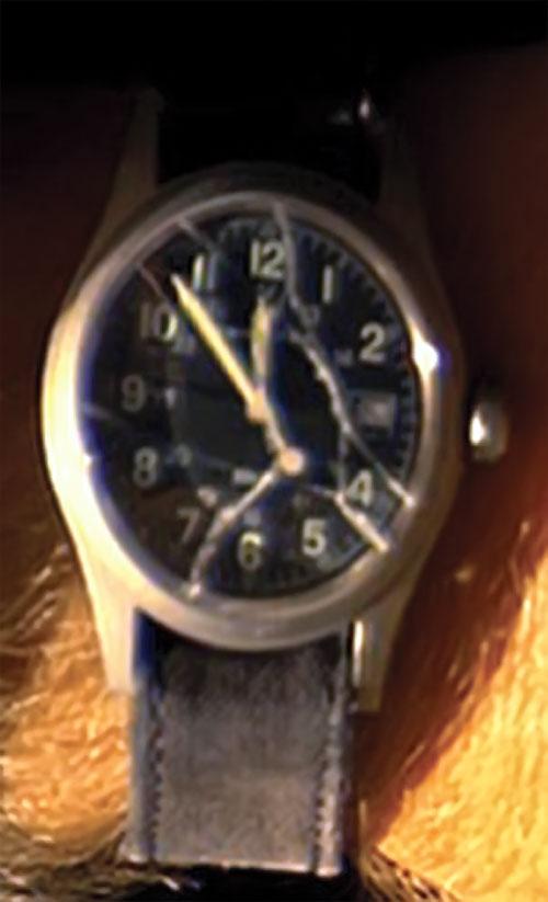 Sylar (Zachary Quinto in NBC's Heroes) broken wrist watch
