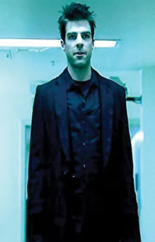 Sylar (Zachary Quinto in NBC's Heroes) in blue lighting