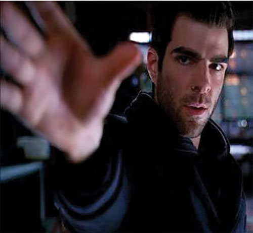 Sylar (Zachary Quinto in NBC's Heroes) reaching hand closeup