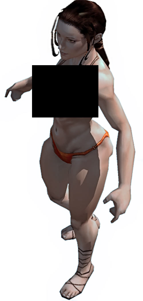 Titan Quest - Female Player Character - Sylphid - Censored for US publication