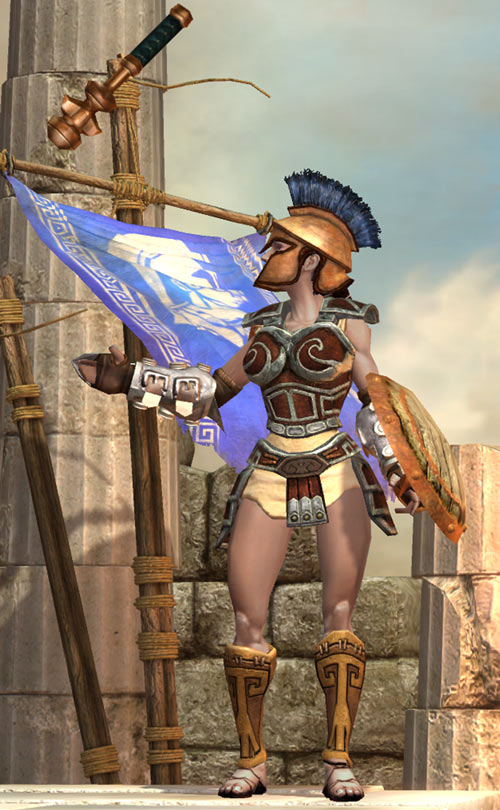Titan Quest - Female Player Character - Sylphid - juggling mace