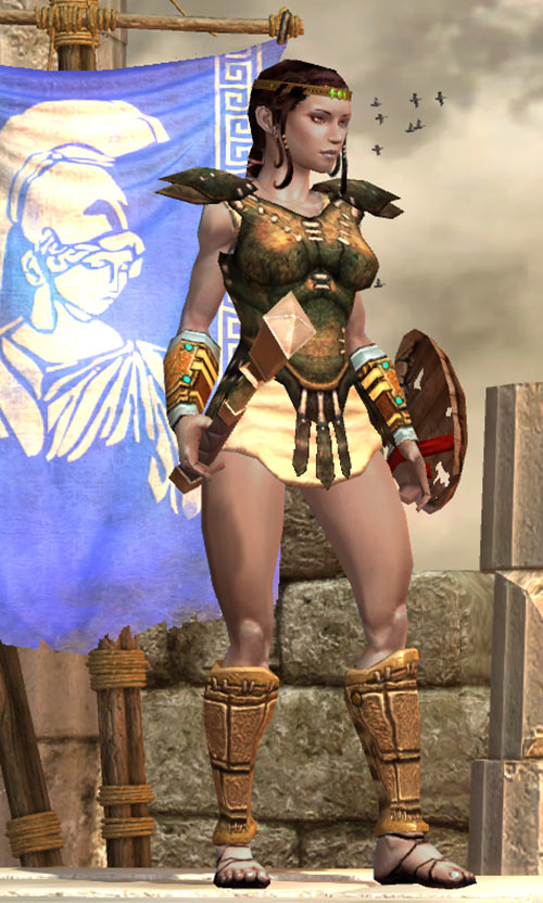 Titan Quest - Female Player Character - Sylphid - Leather breastplate