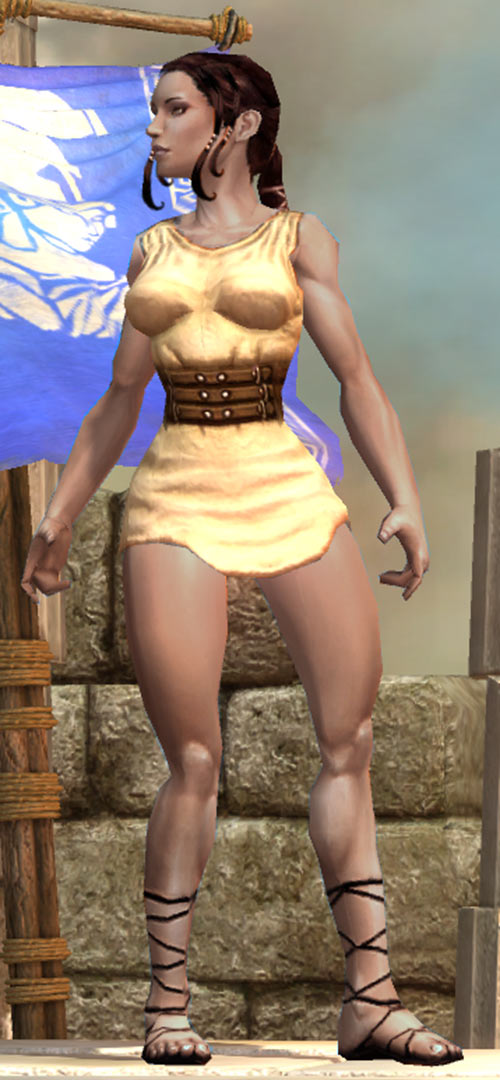 Titan Quest - Female Player Character - Sylphid - White minidress