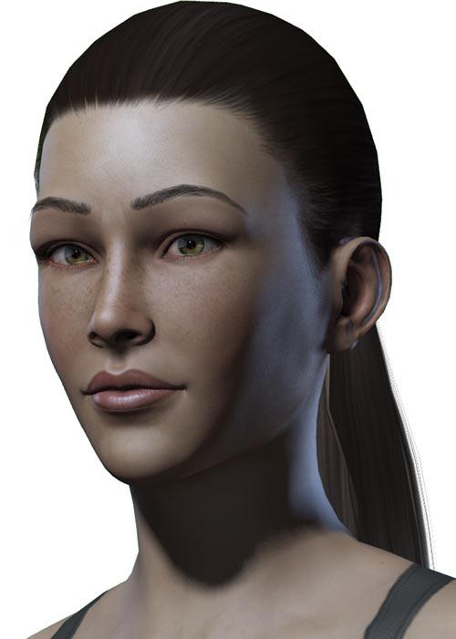 Titan Quest - Female Player Character - Sylphid - portrait closeup
