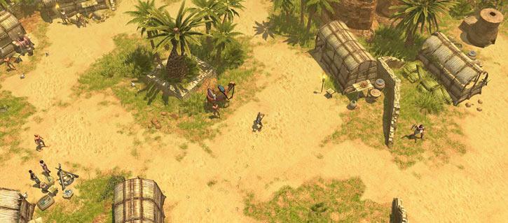 Titan Quest landscape screenshot - Egyptian village