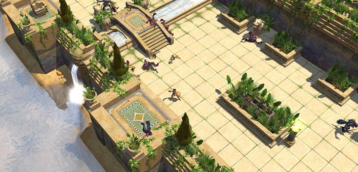 Titan Quest landscape screenshot - Hanging Gardens