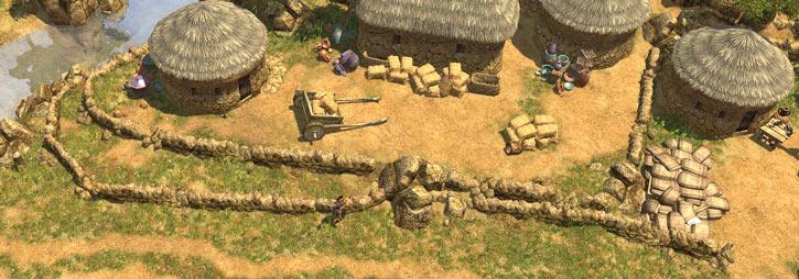 Titan Quest landscape screenshot - Babylonian farm