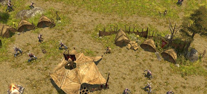 Titan Quest landscape screenshot - Satyr camp