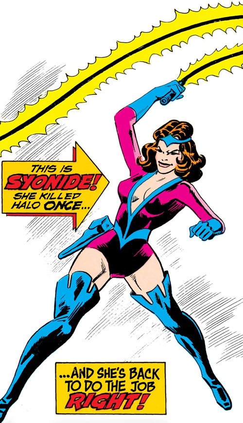 Syonide (Outsiders enemy) (DC Comics) cover art Aparo