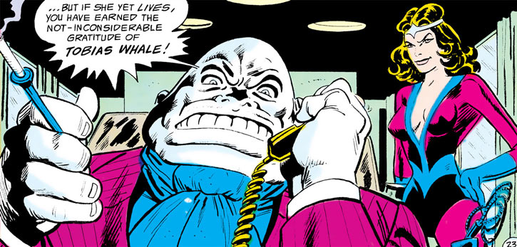 Tobias Whale and Syonide II (Outsiders enemies, DC Comics)