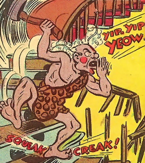 Syonide (1946 Wonder Woman enemy) running down the stairs
