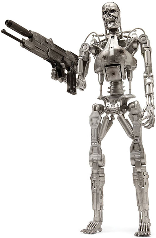 T-800 Terminator over a white background